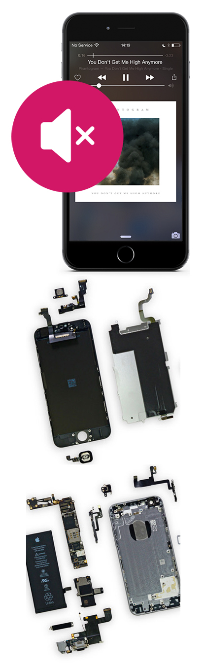 Замена динамика на iPhone в Екатеринбурге