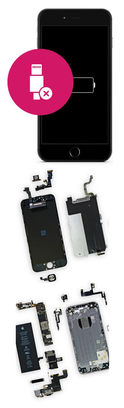 Замена разъема зарядки на iPhone 8, 8 plus в Екатеринбурге